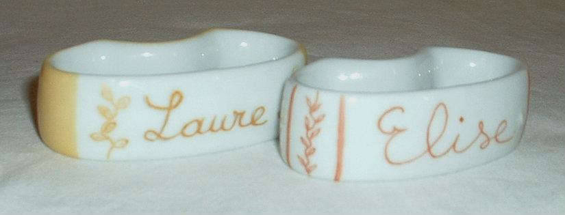 rond de serviette personnalisable personnalisation de porcelaines peintes 224 la