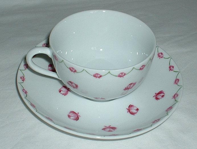 Tasse Et Sous Tasse Th Roses Personnalisation De Porcelaines Peintes La Main