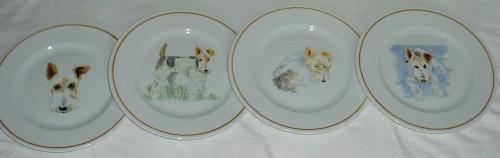 assiettes-dessert-chien-peint-à-la-main