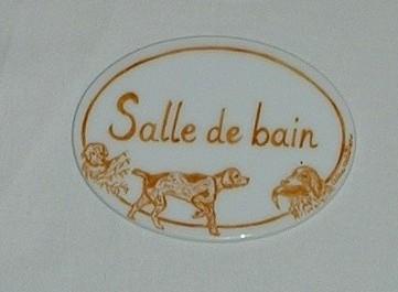 Lot de 3 plaques de porte personnalis es decor au choix for Plaque salle de bain