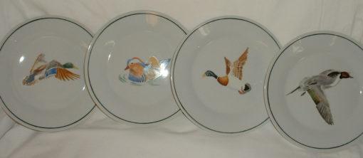 Service  6 assiettes canards-en porcelaine