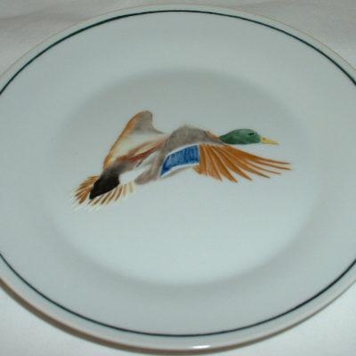 Service assiettes canard