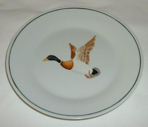 Assiette à dessert canard colvert-porcelaine