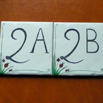 Numéro de maison «coccinelles»