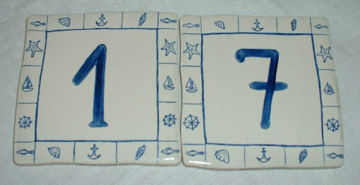Numéro de maison «marin»