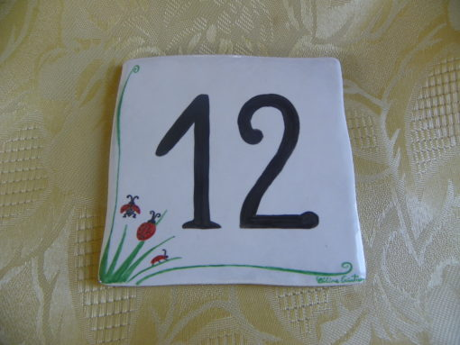 Numéro de maison décor coccinelles