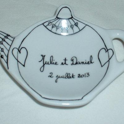 Repose thé personnalisé «cadeau souvenir»
