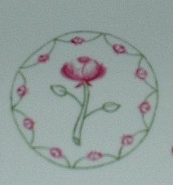 Plat à cake décor petites roses – porcelaine