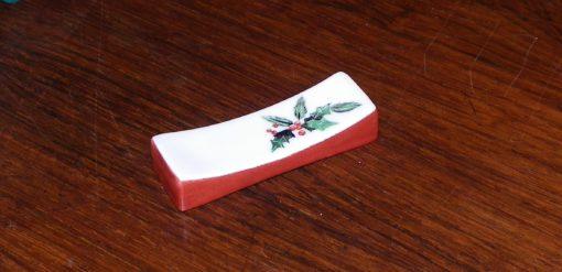6 porte-couteaux motifs houx-déco de table Noel originale