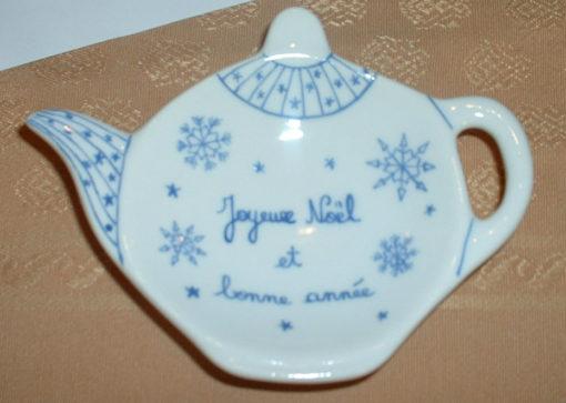 Repose thé «joyeux noel et bonne année»