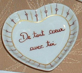Petit coeur avec message