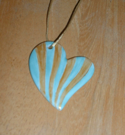Collier coeur bicolor