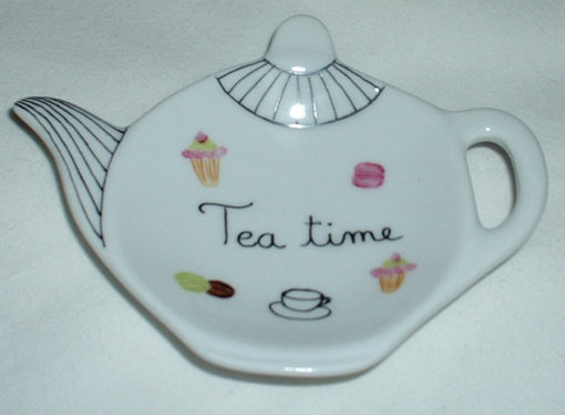 Repose-thé «Tea time» décor petits gateaux