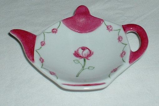 Repose thé motif roses