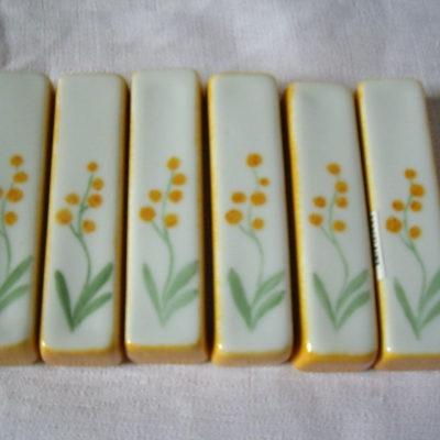 6 porte-couteaux mimosas