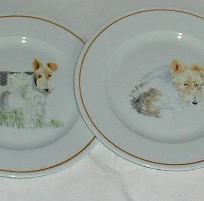 Assiette personnalisée motif chien