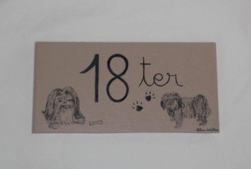 Numéro de maison motif chiens