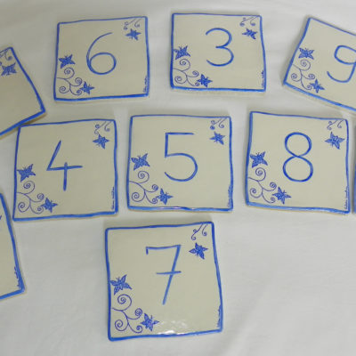 Numéro de maison décor papillons