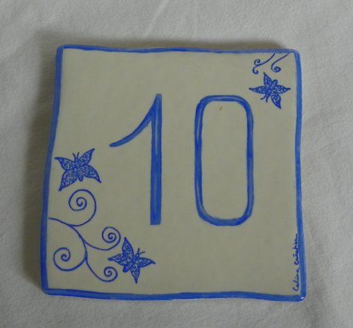 Numéro de maison «papillons»