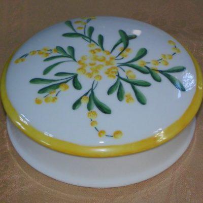 Bonbonnière décor mimosas