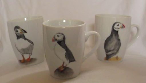 Lot de 3 mugs motifs macareux