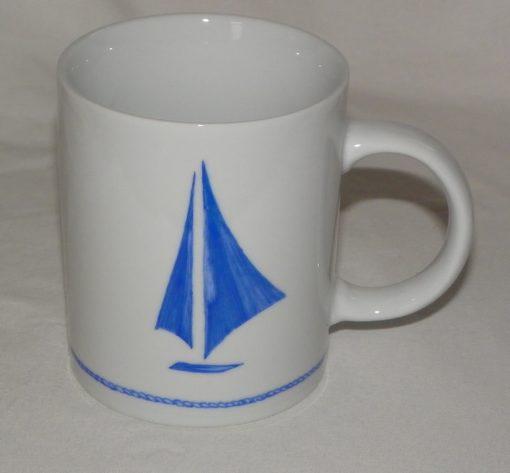 Lot de 6 mugs décor bateau à voile