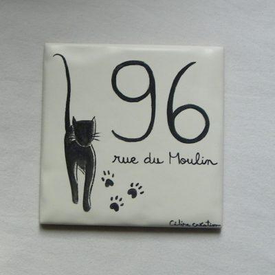 Numéro de maison chat