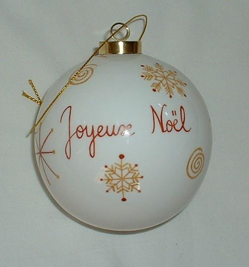 Boule de noel joyeux Noel et Bonne année
