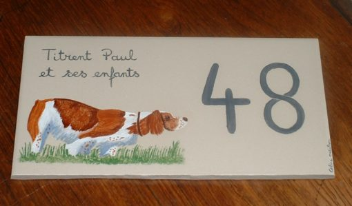 Plaque de maison decor animal nom de famille et numéro