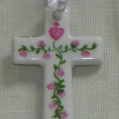 Pendentif croix pour bapteme-communion