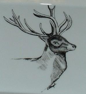 cendrier decor cerf – motif chasse