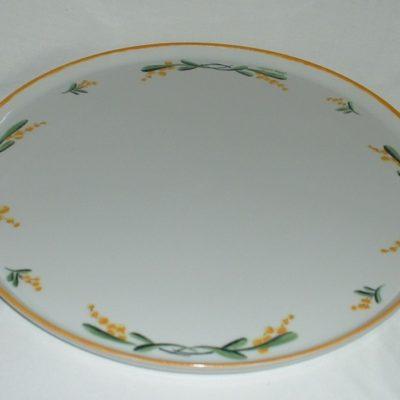 Grand plat a quiche motif mimosas
