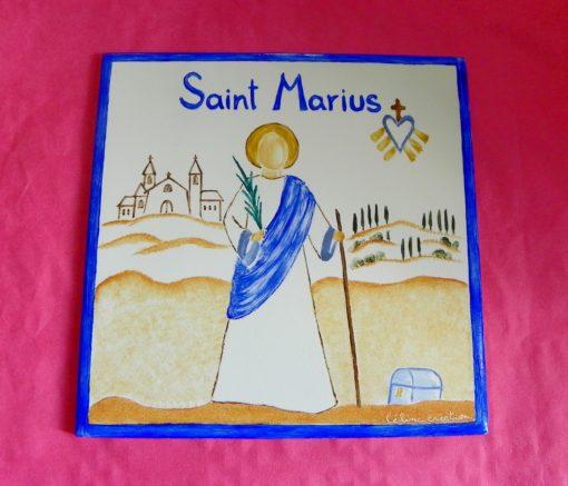 Cadeau de communion-bapteme : carreau saint patron