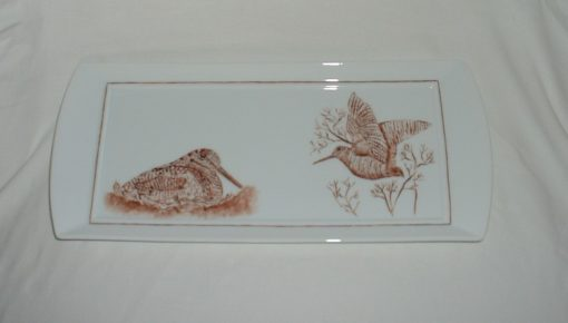 Plat a cake chasse- decor becasses