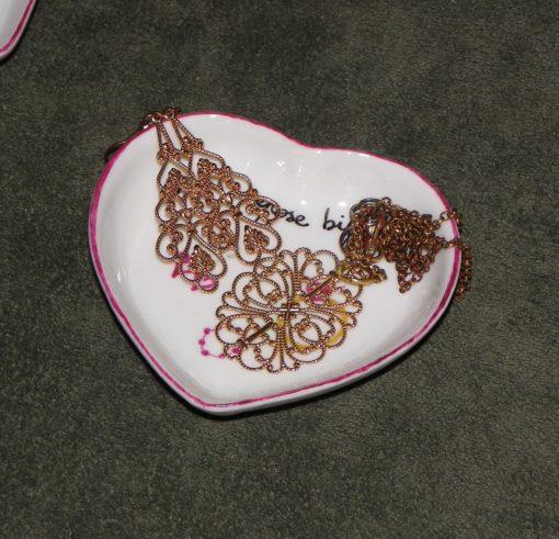 2 repose bijoux-coeurs en porcelaine-personnalisable