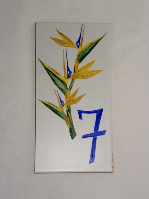 Plaque de maison personnalisée motif oiseau de paradis