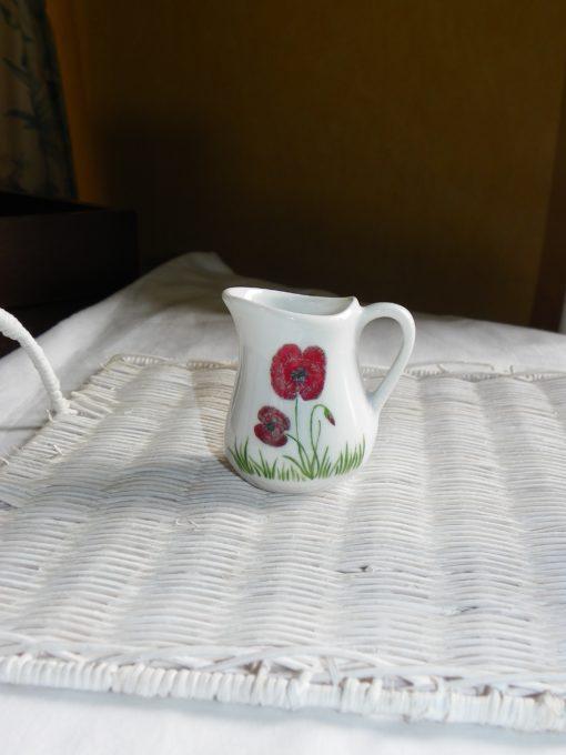 Service thé ou café pour 2 decor coquelicots