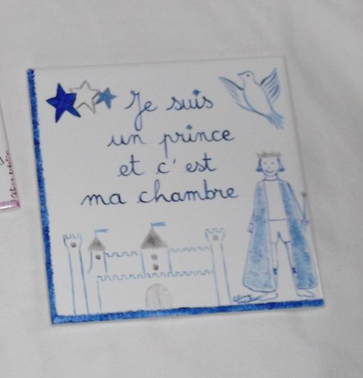 Plaque chambre enfant «prince» personnalisable