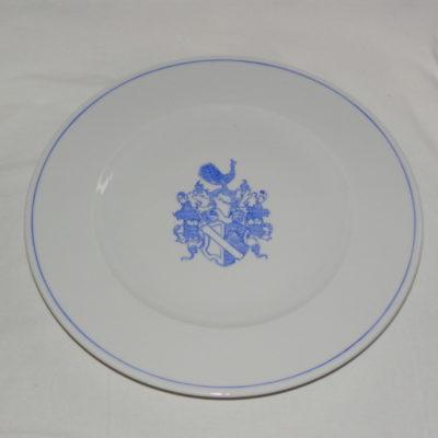 Assiette avec armoiries-blason personnalisée