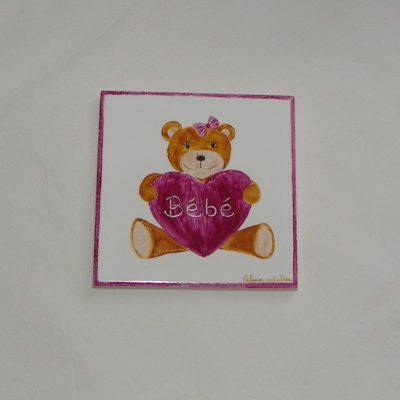 Plaque pour chambre bébé-personnalisable avec prénom