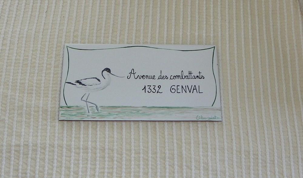 Plaque de maison Oiseaux personnalisée avec votre texte et numéro