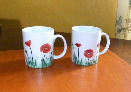 Lot de 2 mugs personnalisés-textes et décor