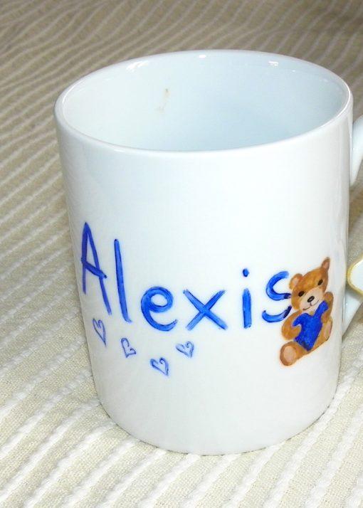 mug personnalisé avec prénom et 2 décors
