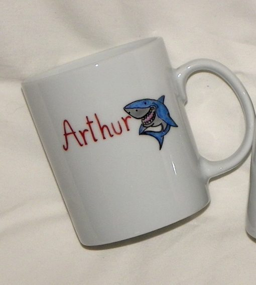 mug personnalisé avec prénom et décor