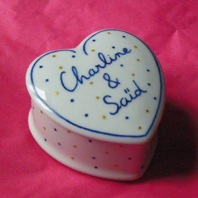 Boite coeur idée cadeau st Valentin-fête des mères…