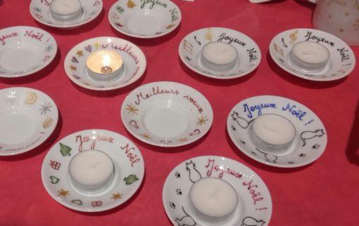 Coupelle personnalisée Noel – Bonne année porcelaine